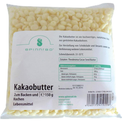 KAKAOBUTTER Pellets zum Backen 150 g