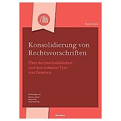 Konsolidierung von Rechtsvorschriften - Buch