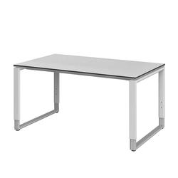 Höhenverstellbarer Schreibtisch in Weiß modern