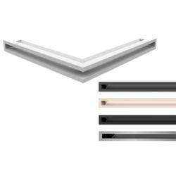 Kratki Eckluftleiste, Luftleiste 45S, 5 Farben   560x560 Winkel x 60mm