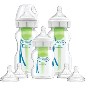Dr Browns WB03606 - WIDE NECK PTIONS PLUS SMALL NECK FEEDING KIT DR BROWNS/2 BUT. 270ML WIDE + 1 bottle 150ml + 2 BRUSHES + 2 TEAMS LEVEL 2 + 2 DUMPS LEVEL 3 /