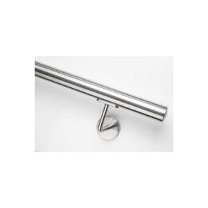 Handlauf Edelstahl rund, 42,4 mm Durchmesser, bis 5,5 m Länge nach Maß