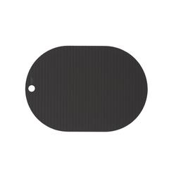 Platzset, Ribbo, OYOY, (2er Set), Tischset Tischschutz Platzdecken Silikon Oval Unterlage Bastelunterlage Malunterlage schwarz