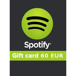 Spotify Gift Card 60 EUR Spotify GERMANY