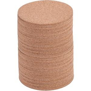 Weiye Selbstklebende Kork-Untersetzer, rund, quadratisch, Kork-Unterlage, für Untersetzer und Bastelbedarf, 60 Stück