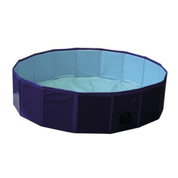 Hundepool Flexibel, L - Ø 160 x 30 cm - blau