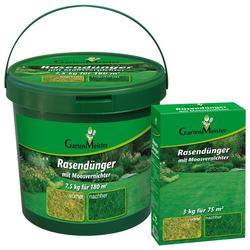Rasendünger mit Moosvernichter, 7,5 kg für ca. 180 kg