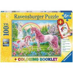 Ravensburger Puzzle Magische Einhörner, 100 Puzzleteile, Made in Germany
