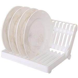 Milopon Abtropfgestel Abtropfhalter Abtropfständer Küche Geschirrkorb Tellerständer aus PP Kunststoffe für Teller