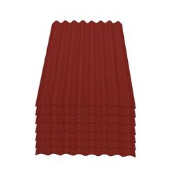 Onduline Wellplatte Onduline Easyline Dachplatte Wandplatte Bitumenwellplatten Wellplatte 7x0,76m² - rot, Wellig, 5.32 m² pro Paket, (7-St)