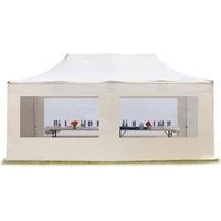 TOOLPORT Faltpavillon 3,00 x 6,00 m inkl. Seitenteile creme (581948)