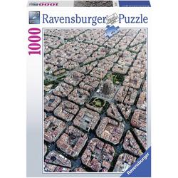 Ravensburger Puzzle Puzzle 1000 Teile, 70x50 cm, Barcelona von Oben, Puzzleteile