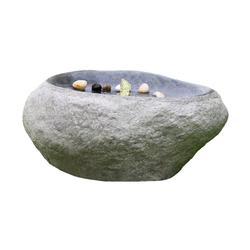 Dehner Gartenbrunnen Rock mit LED, 60 x 40 x 27.5 cm, Polyresin
