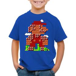 style3 Print-Shirt Kinder T-Shirt Bros Level klempner 8bit japan mario 128
