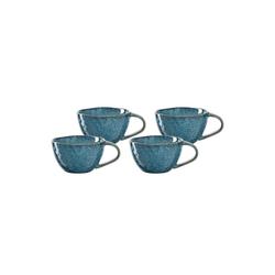 LEONARDO Tasse MATERA Keramiktasse 180 ml blau 4er Set (4-tlg), Keramik