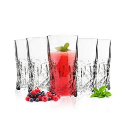 Sendez Whiskyglas 6 Whiskeygläser mit Schliff 250ml Whiskeyglas Wassergläser Saftgläser Longdrinkgläser