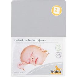 Jersey-Spannbetttücher Kinderbetten, grau, 2er Set Gr. 70 x 140  Kinder