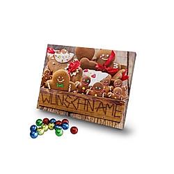 Personalisierter Schoko-Adventskalender (Typ: Kekskiste) - Kalender
