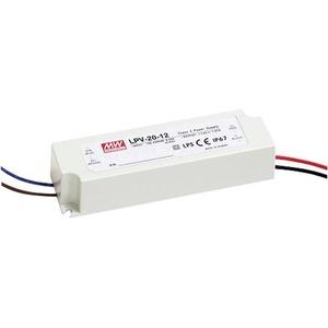 Mean Well LPV-20-12 LED-Trafo Konstantspannung 20W 0 - 1.67A 12 V/DC nicht dimmbar, Überlastschutz