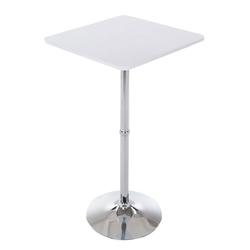 CLP Bartisch Stehtisch eckig, quadratischer Stehtisch Holz-Tischplatte weiß