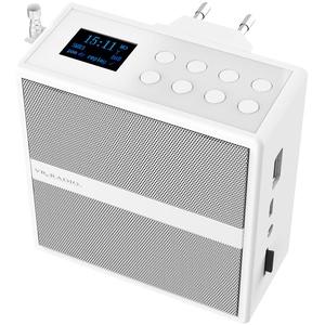 Steckdosenradio mit DAB+/FM, Bluetooth, USB, Freisprecher & Akku, 6 W