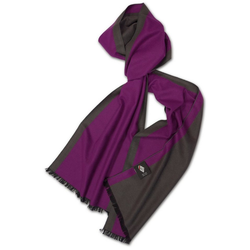 Posh Gear Seidenschal Seiden Schal Silk Bicolor aus 100% Seide lila