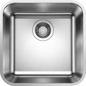 BLANCO Altura-S, Einhandmischer mit ausziehbarer Schlauch-Brause / Küchenarmatur, Edelstahl gebürstet, Niederdruck, 1 Stück; 519726