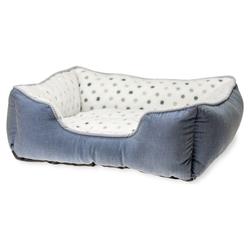 Karlie Hundebett Dot grau-blau, Maße: 47 x 39 cm