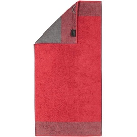 CAWÖ Luxury Home Two-Tone 590 Handtuch 50 x 100 cm rot
