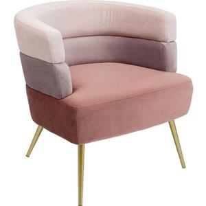 Kare-Design Sessel Samt Rosa, Altrosa , Sandwich Rose , Textil , 65x74x64 cm , lackiert,Samt , 001838057702