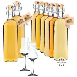 Prinz Alte Sorten Vorteils-Paket 8 Flaschen + 2 x Kelchglas