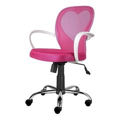 Fotel biurowy Mia różowy