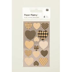 Sticker Kraftpapier Herzen