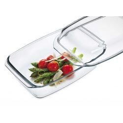 SIMAX Auflaufform Glas Auflaufform mit Deckel 34,8 cm, Glas