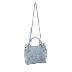 Tasche Mit modernem Lochmuster blau