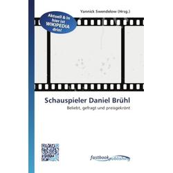 Schauspieler Daniel Brühl als Buch von