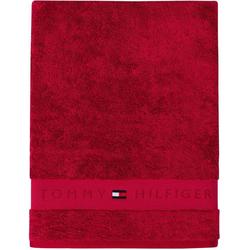 TOMMY HILFIGER Badetuch Frotteeuni (1-St), in vielen Farben erhältlich rot