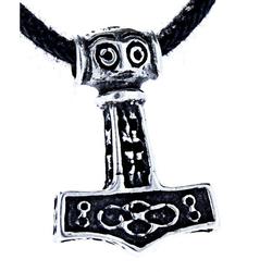 Kiss of Leather Kettenanhänger Thorshammer Anhänger Thor klein 925 Silber Hammer Thor Mjölnir