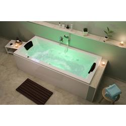 Emotion Whirlpool-Badewanne Unity 190 Whirlpool Set mit der Befüllung über den Überlauf