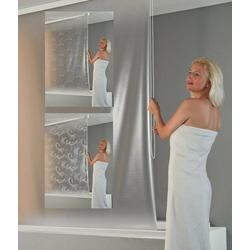 Kassetten Duschrollo De Luxe Ocean weiß, 134 cm - Seitenzug