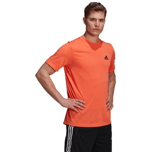 Adidas Herren T-Shirt M FR T - true orange/black