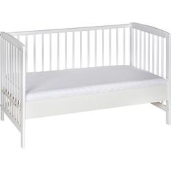 Beistell- Kinderbett Micky, Massivholz weiß lackiert, 60x120 cm