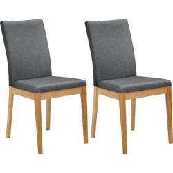 Stuhl Roberto Rücken und Sitz gepolstert grau