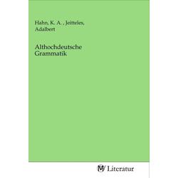 Althochdeutsche Grammatik als Buch von