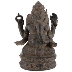 Guru-Shop Dekofigur Messingfigur Ganesha Statue 20 cm - Motiv 29