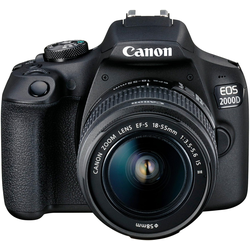 Canon EOS 2000D EF-S 18-55 IS II Value Up Kit Spiegelreflexkamera (EF-S 18-55 IS II, 24,1 MP, NFC, WLAN (Wi-Fi)