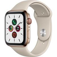 Apple Watch Series 5 GPS + Cellular 44 mm Edelstahlgehäuse gold, Sportarmband stein