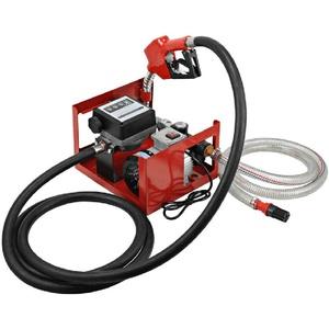 OUKANING Dieselpumpe Elektrisch 220V DP60L mit Schläuchen Heizölpumpe Diesel Tankstelle Selbstansaugend Dieselpumpe 60L/min