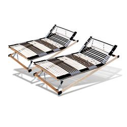 Set mit 2 x 44 Leisten Lattenrost ,verstellbares Kopf- und Fußteil, 90cm x 190cm