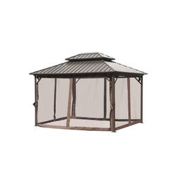Outsunny Pavillon Pavillon mit Doppeldach